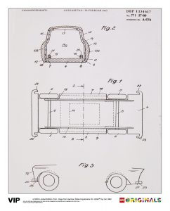 german patent lego 5006006 toy car 1963