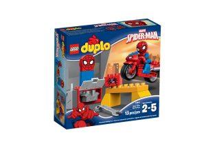 lego 10607 spider man motorrad werkstatt
