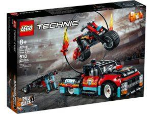 lego 42106 stunt show mit truck und motorrad