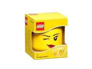lego 5006186 zwinkerkopf kleine aufbewahrungsbox