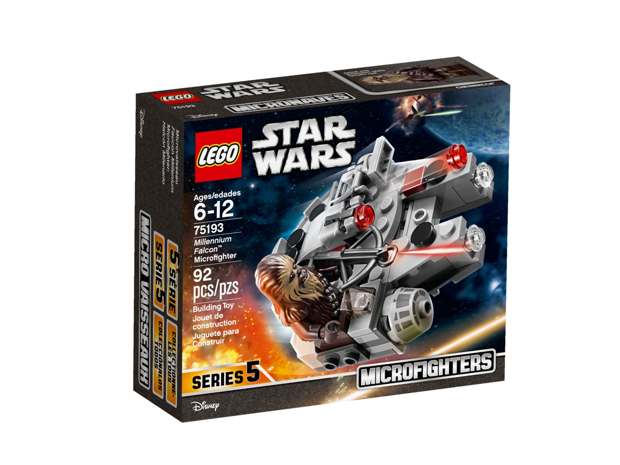 lego 75193 millennium falcon microfighter scaled
