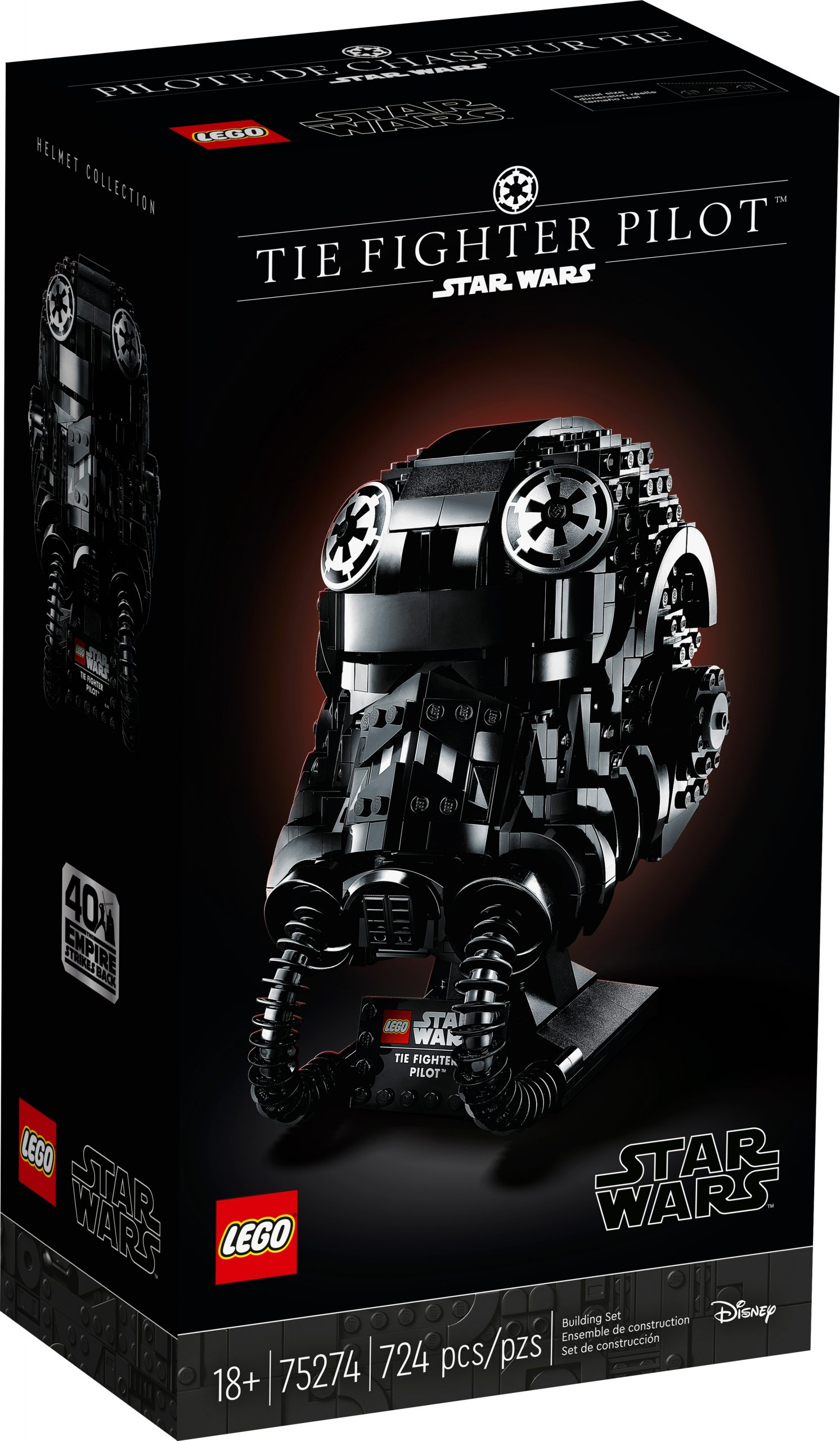 lego 75274 tie fighter pilot helm scaled