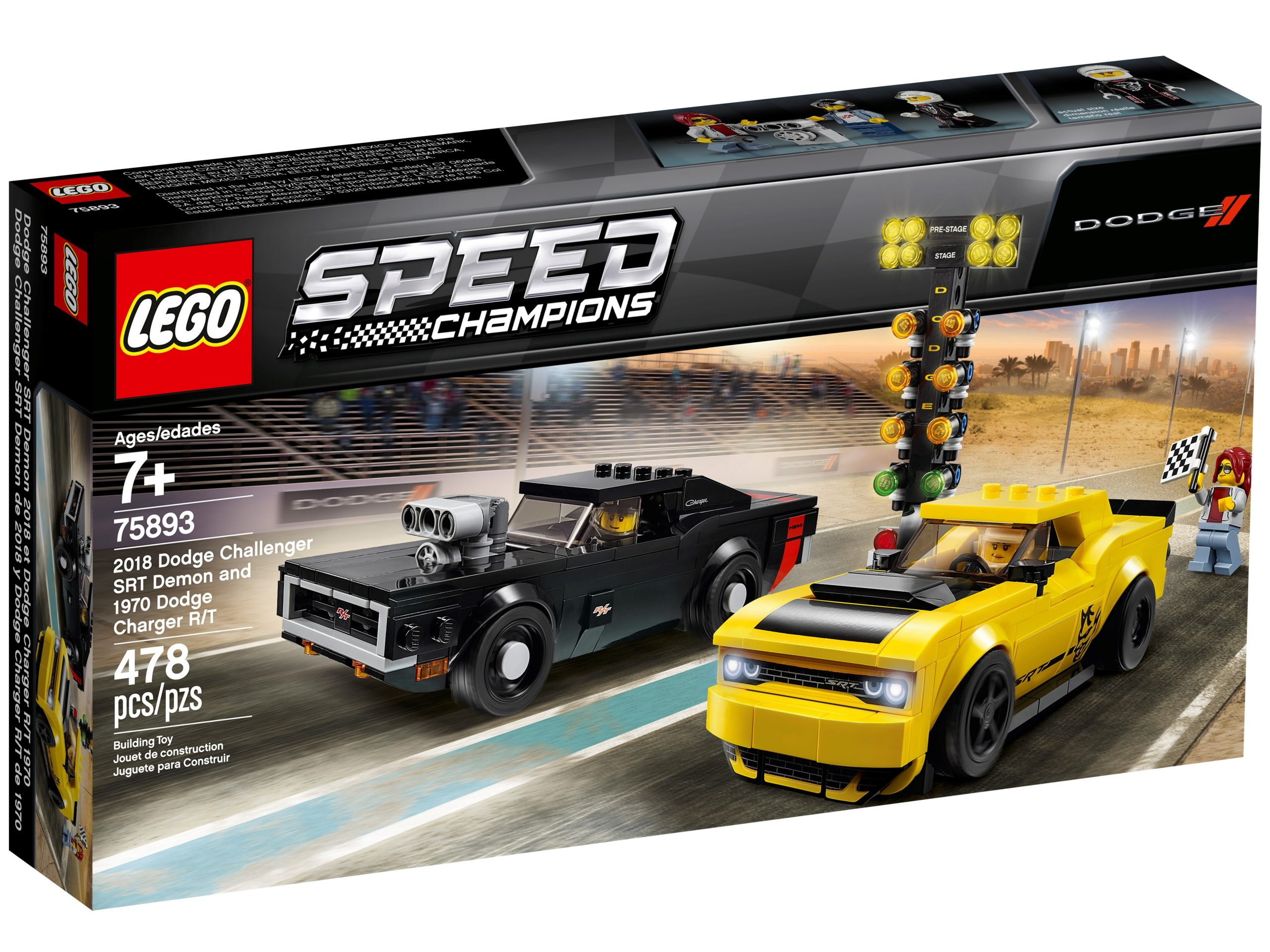 lego 75893 2018 dodge challenger srt demon und 1970 dodge charger r t scaled