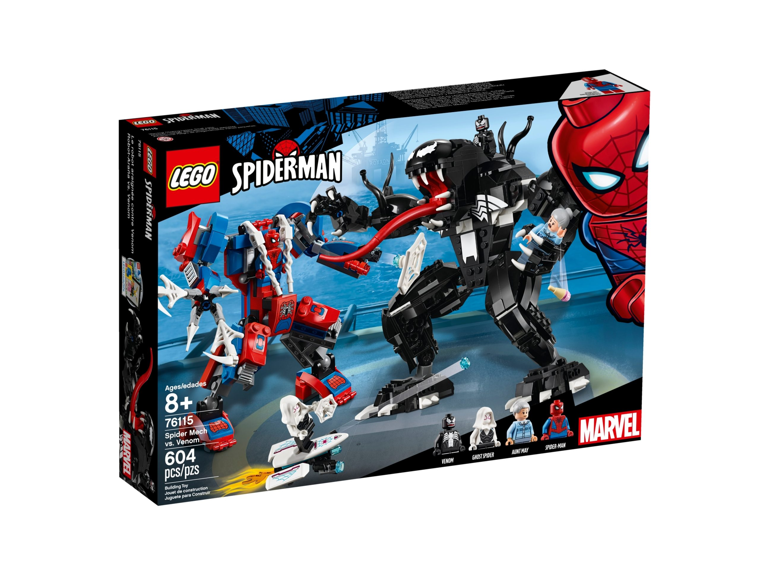 lego 76115 spider mech vs venom scaled