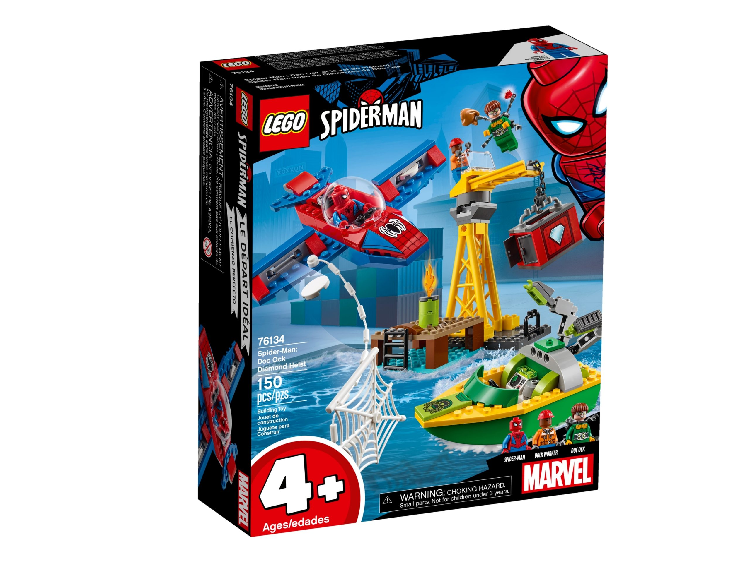 lego 76134 spider man diamantenraub mit doc ock scaled