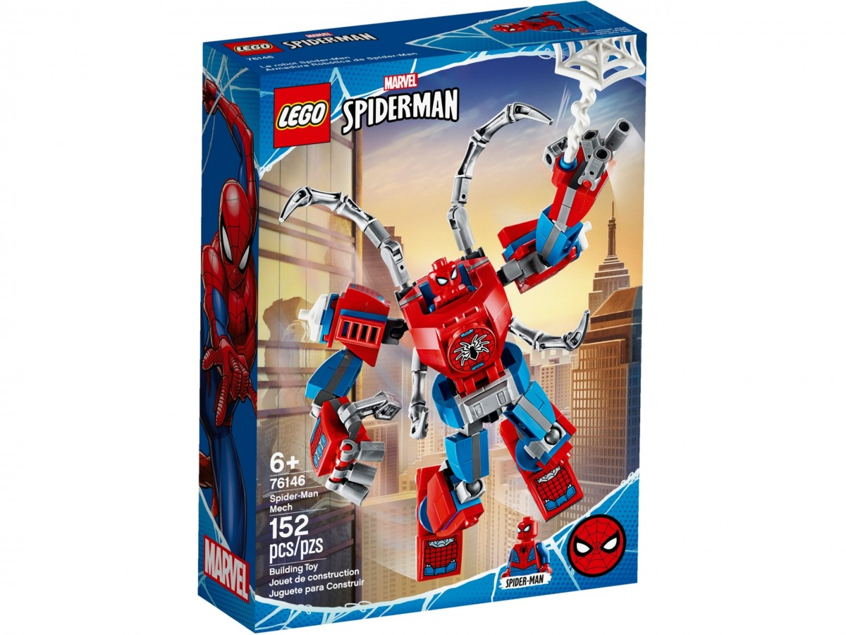 lego 76146 spider man mech scaled