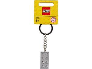 lego 851406 schlusselanhanger mit metallbeschichtetem 2 x 4 stein