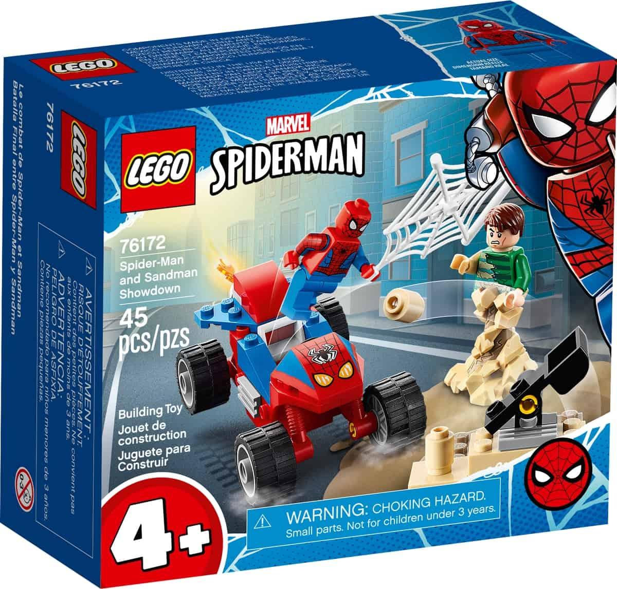 lego 76172 das duell von spider man und sandman