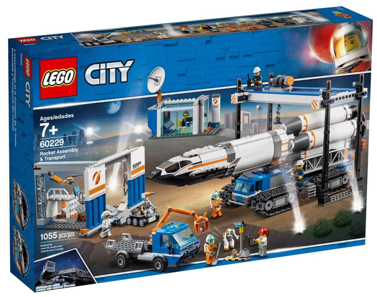 lego 60229 raketenmontage transport
