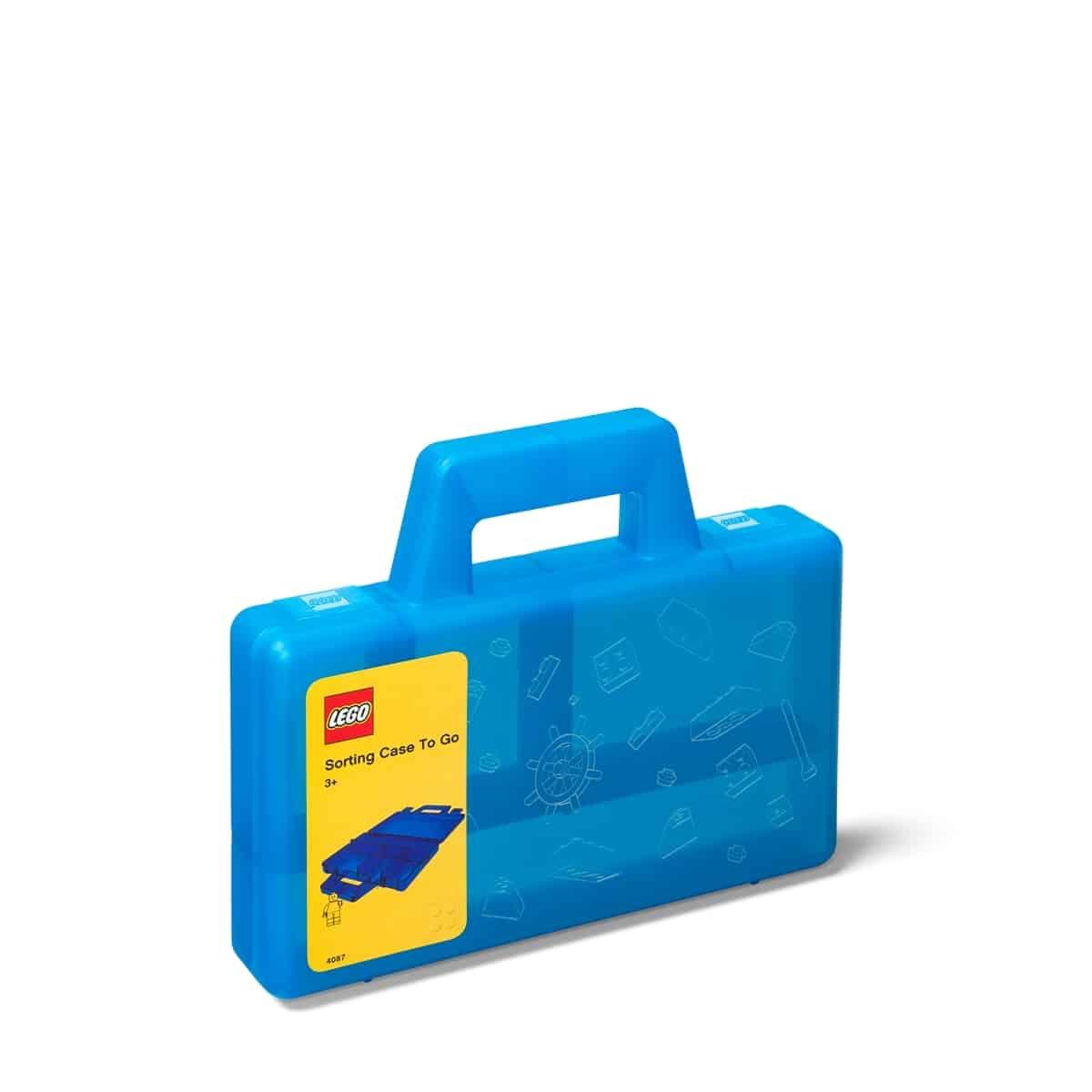 lego 5005890 tragbare sortierbox in transparentem blau