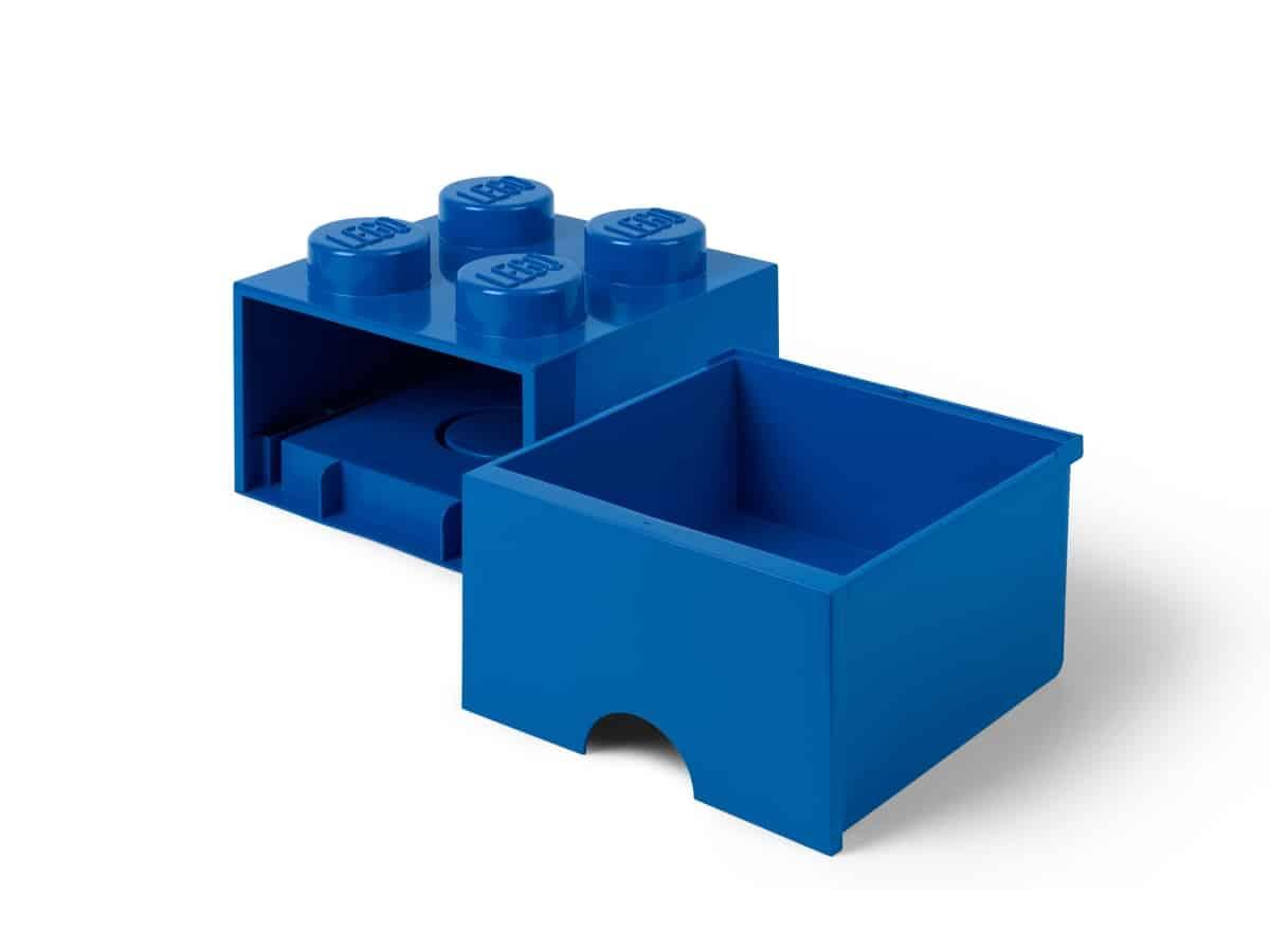 lego 5006130 aufbewahrungsstein mit schubfach und 4 noppen in blau