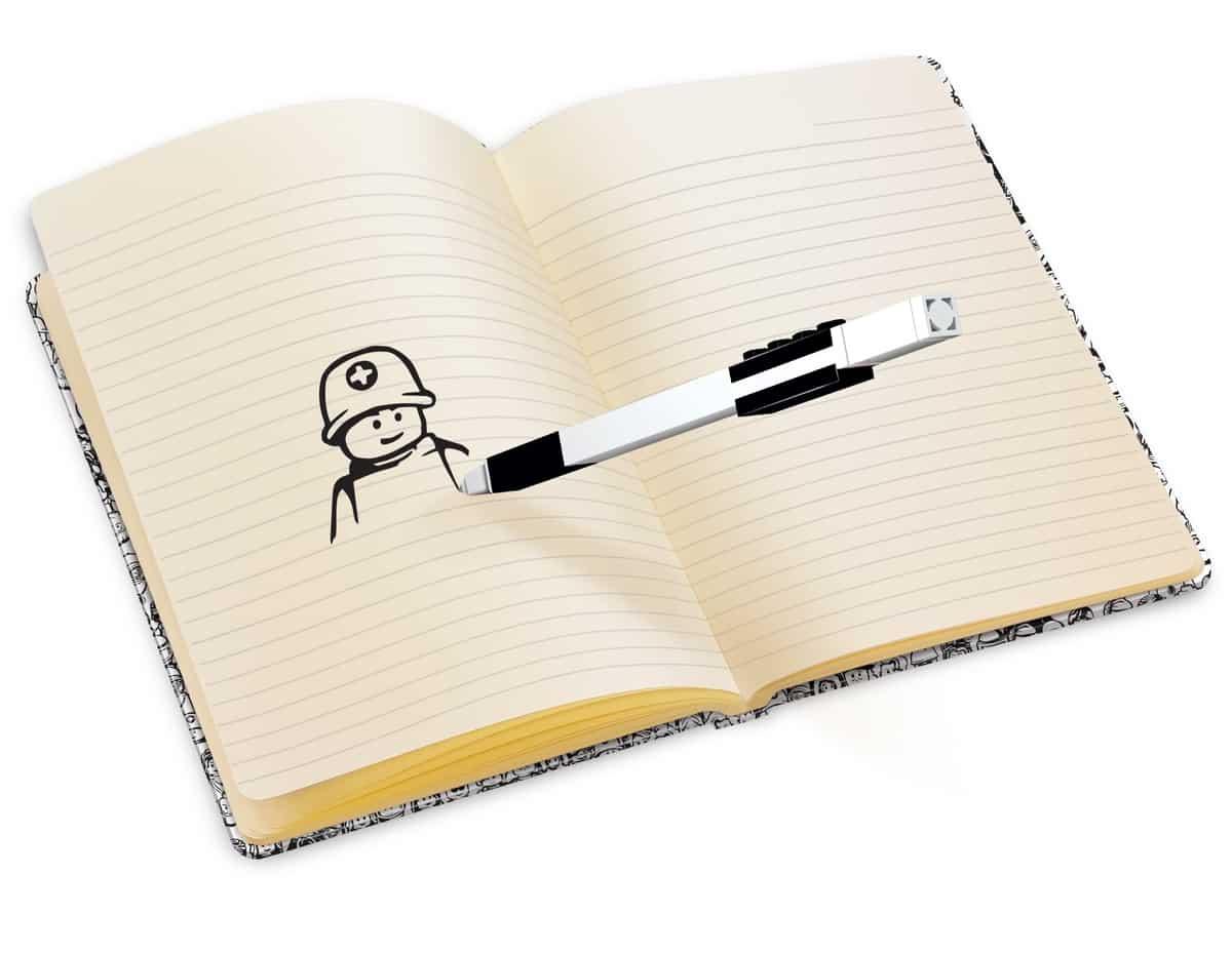 lego 5006295 mini figure notebook with gel pen