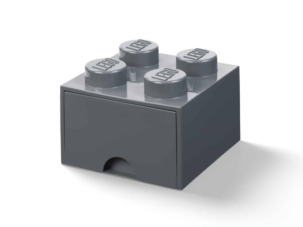 lego 5006328 stein mit 4 noppen und schubfach in dunkelgrau