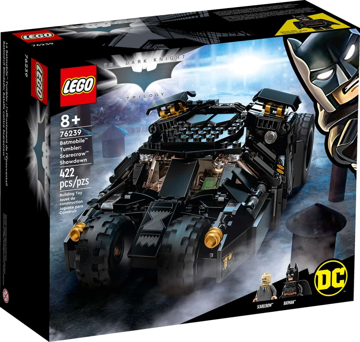 lego 76239 dc batman batmobile tumbler duell mit scarecrow